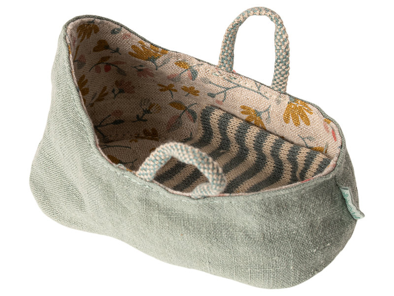 "Maileg Mäuse  Babytragetasche ""Carry cot"" dusty green, my"