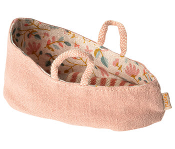 "Maileg Mäuse  Babytragetasche ""Carry cot"" misty rose, my"