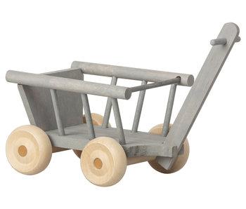Maileg Mäuse  Leiterwagen, grau
