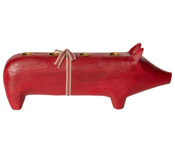 """Maileg Adventskranz """"Schwein"""" rot"""