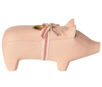 """Maileg Kerzenständer """"Schwein"""" rosa, medium"""