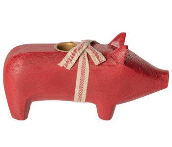 """Maileg Kerzenständer """"Schwein"""" rot, medium"""
