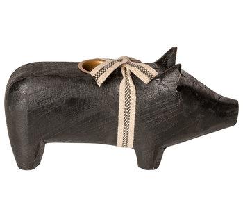 """Maileg Kerzenständer """"Schwein"""" schwarz, medium"""