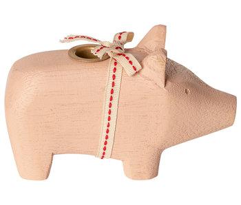 """Maileg Kerzenständer """"Schwein"""" rosa, klein"""