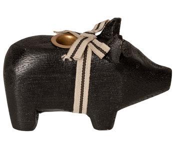 """Maileg Kerzenständer """"Schwein"""" schwarz, klein"""