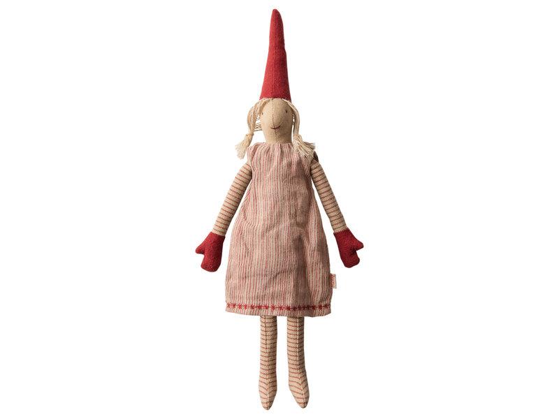 """Maileg Wichtel Mädchen """"Pixy Mini"""" Kleid Streifen, 2019"""