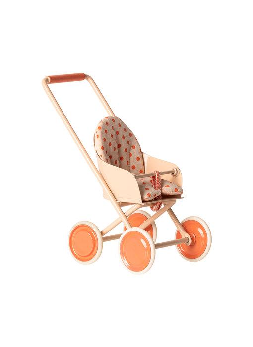 """Maileg Mäuse Kinderwagen """"Puppenwagen"""" micro, Soft coral"""