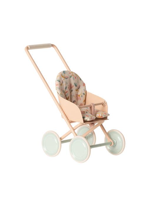 """Maileg Mäuse Kinderwagen """"Puppenwagen"""" micro, Powder"""