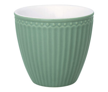 "GreenGate Becher ""Latte cup Alice"" dusty green"