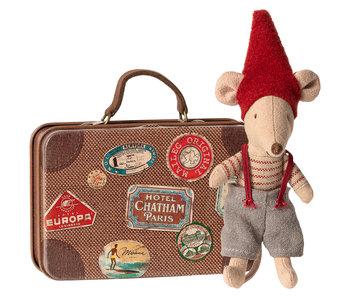 """Maileg """"Weihnachtsmaus"""" im Koffer, kleiner Bruder"""