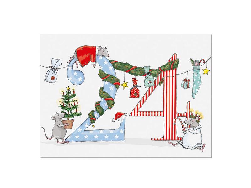 "krima & isa Postkarte ""24"""