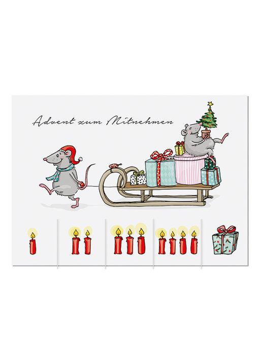 "krima & isa Postkarte ""Advent zum Mitnehmen"""