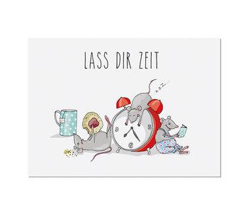 "krima & isa Postkarte ""Lass Dir Zeit"""