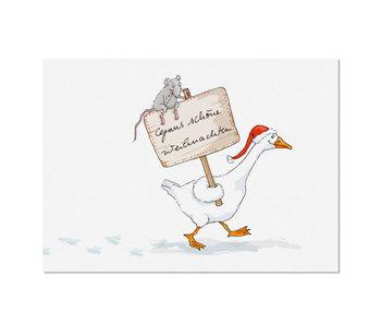 """krima & isa Postkarte """"Gans Weihnachtlich"""""""