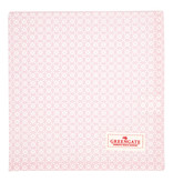"GreenGate Tischtuch ""Helle pale pink"" 100x100cm"