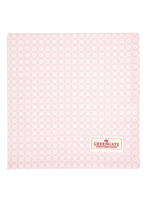 "GreenGate Tischtuch ""Helle pale pink"" 100x100cm"