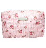 "GreenGate Waschbeutel ""Wash bag Abigail stripe pale pink"" large"