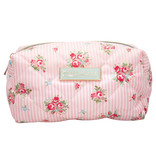 "GreenGate Waschbeutel ""Wash bag Abigail stripe pale pink"" small"