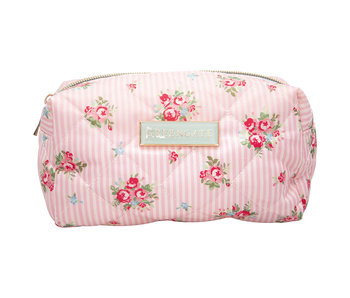 "GreenGate Waschbeutel ""Wash bag Abigail stripe pale pink"" small"