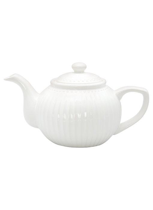 "GreenGate Teekanne ""Teapot Alice"" white"