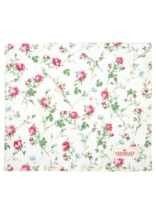 """GreenGate Tischdecke """"Constance white"""" 145x250cm"""