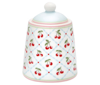 "GreenGate Zuckerdose ""Sugar pot Cherie white"""