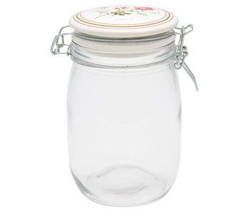 """GreenGate Vorratsglas """"Constance white"""" 1L"""