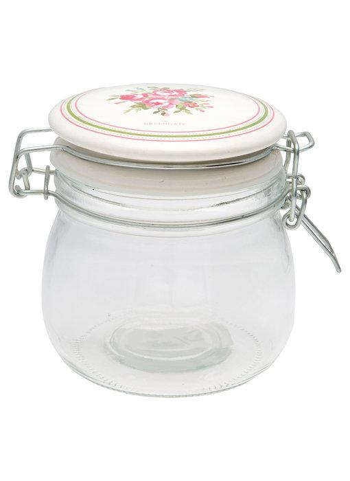 """GreenGate Vorratsglas """"Constance white"""" 0,5L"""