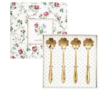 "GreenGate Löffel Set ""Spoon gold"" 4 teilig"