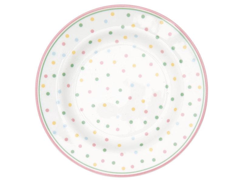 """GreenGate Kuchenteller """"Small plate Bonnie white"""" 15 cm"""