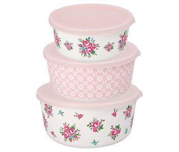 "GreenGate Vorratsdosen Round box ""Constance white"" Set 3 Stk."