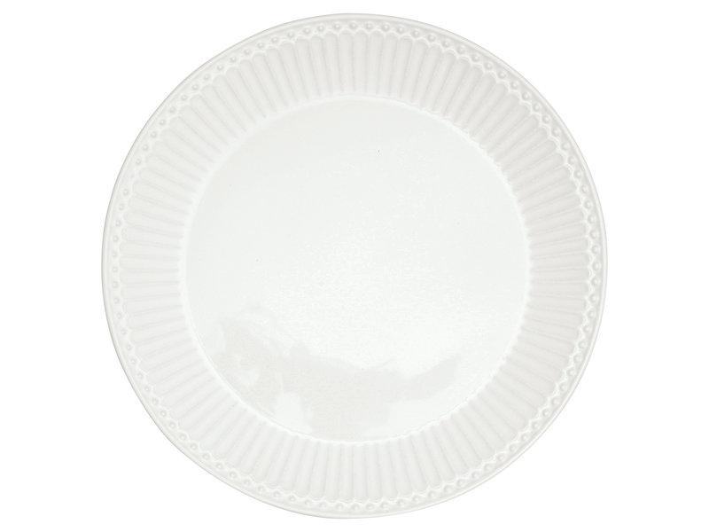 "GreenGate Frühstücksteller ""Plate Alice"" white"