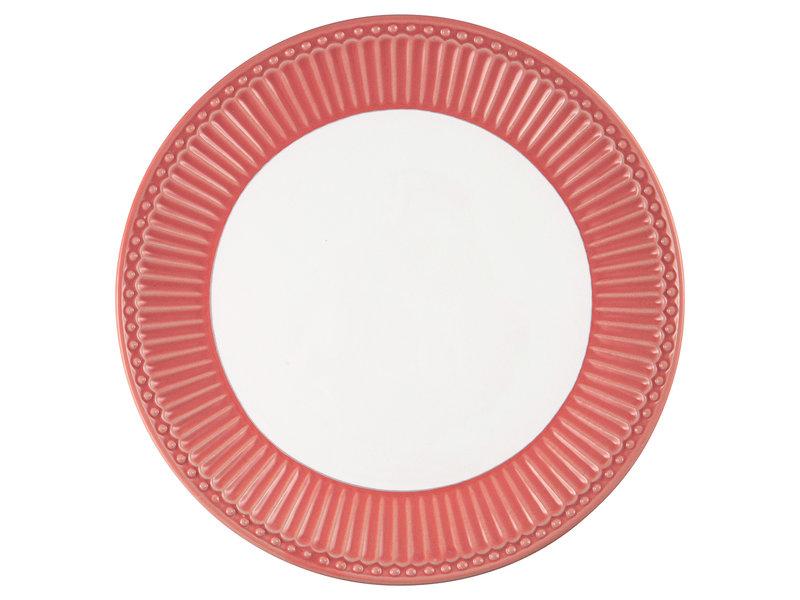 "GreenGate Frühstücksteller ""Plate Alice"" coral"