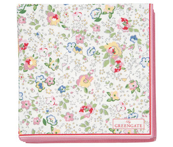 "GreenGate Papierservietten ""Vivianne white"" small 20 Stk."