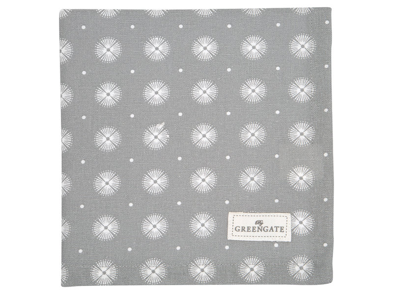"GreenGate Stoffserviette ""Saga warm grey"""
