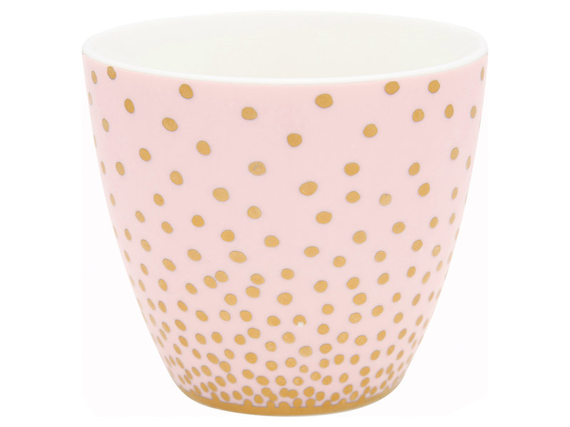 "GreenGate Latte Cup ""Gold spot peach"""