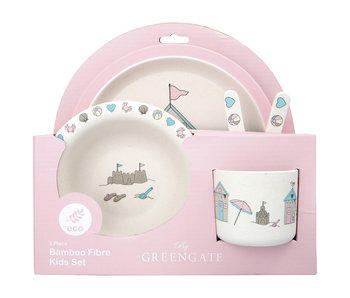 "GreenGate Kids dinner Set ""Ellison pale pink"" 4 teilig"