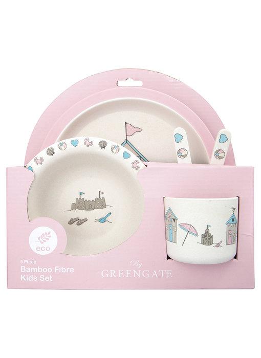"""GreenGate Kids dinner Set """"Ellison pale pink"""" 4 teilig"""