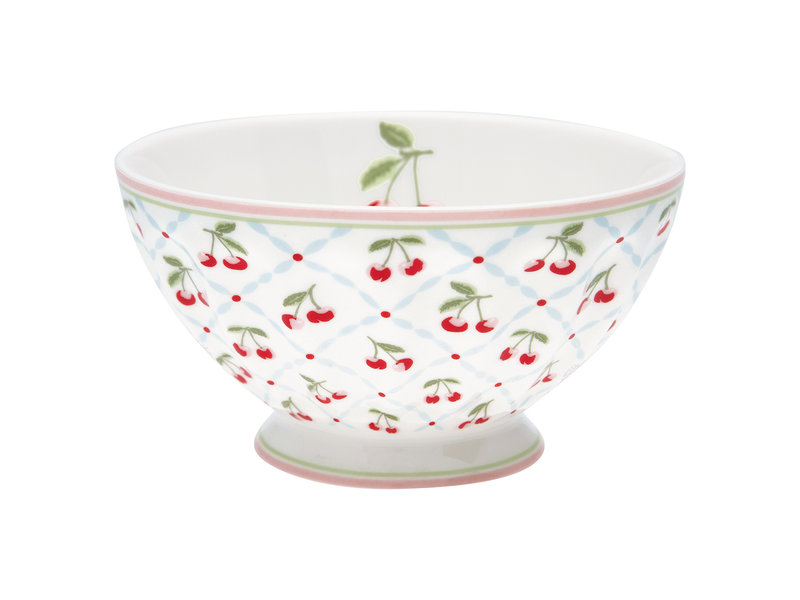 "GreenGate French bowl xlarge ""Cherie white"""