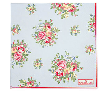 "GreenGate Papierservietten ""Franka pale blue"" large 20 Stk."