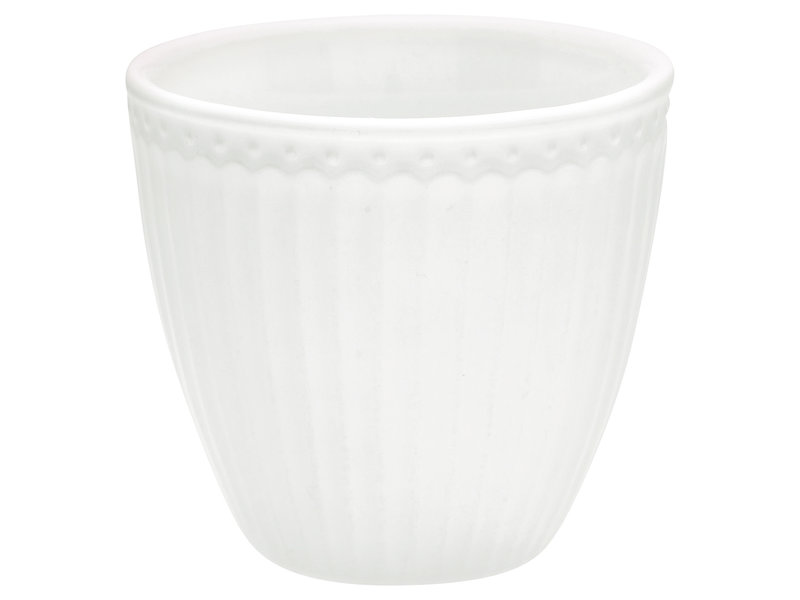 "GreenGate Becher ""Latte cup Alice"" white"