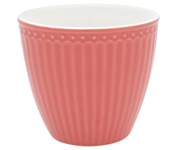 "GreenGate Becher ""Latte cup Alice"" coral"