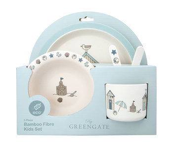 "GreenGate Kids dinner Set ""Ellison pale blue"" 4 teilig"