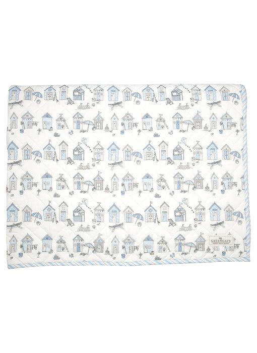 """GreenGate Kinder Quilt  """"Ellison pale blue"""" 120x120cm"""