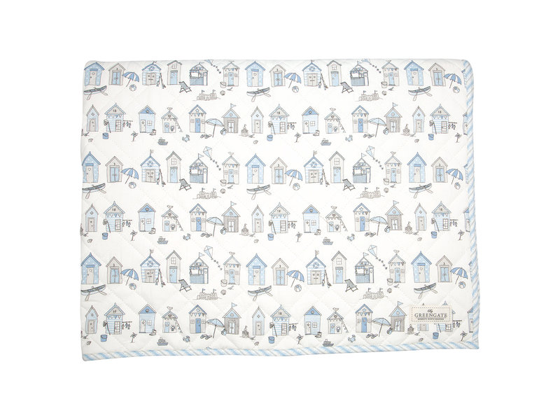 "GreenGate Kinder Quilt  ""Ellison pale blue"" 120x120cm"