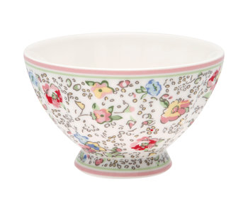 "GreenGate French Bowl medium ""Vivianne white"""