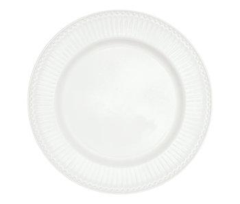 """GreenGate Essteller """"Dinner plate Alice"""" white"""