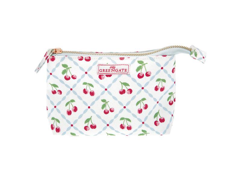 "GreenGate Kosmetikmäppchen ""Cosmetic bag Cherry white"" small"