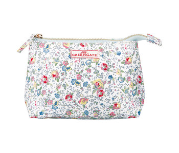 "GreenGate Kosmetikmäppchen ""Cosmetic bag Vivianne white"" small"