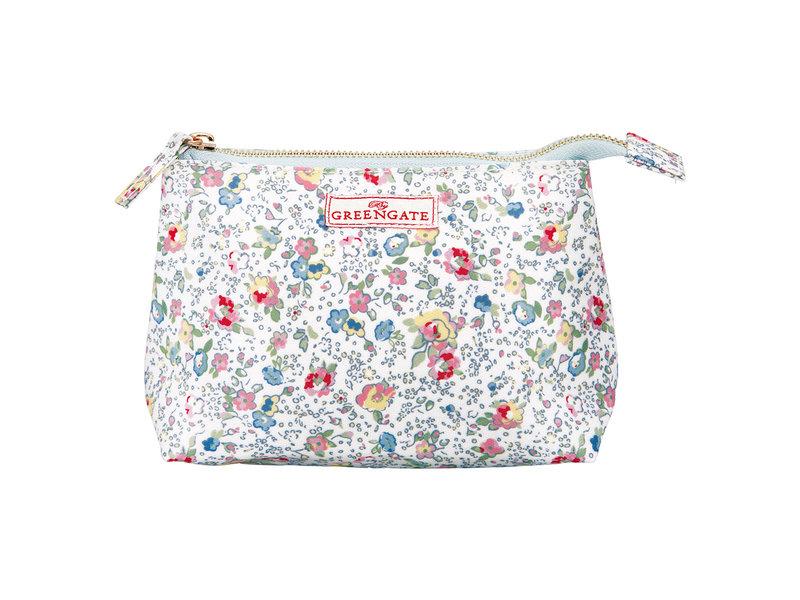 "GreenGate Kosmetikmäppchen ""Cosmetic bag Vivianne white"" small"